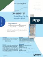 Pds172-Ora Blend SF Sell Sheet