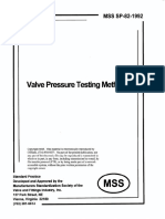 MSS SP 82 Valve Pressure Testing Methods