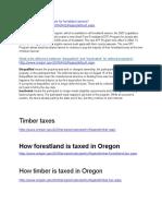 dor timber tax links