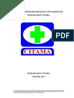 316323578 Pedoman Pengorganisasian Radiologi RS CITAMA