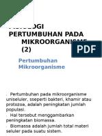 Fisiologi Pertumbuhan Pada Mikroorganisme (2)