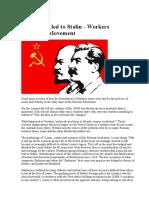 How Lenin Led to Stalin