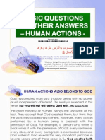 Basic Questions and Their Answers - Human Actions