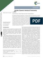 Microfluidic Dynamic Interfacial Tensiometry