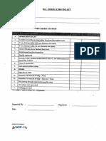 Checklist - Dry Riser System