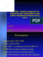 ISO 13485 –Quality management for medical devices