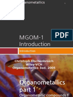 MGOM 1 Introduction to Organometallics
