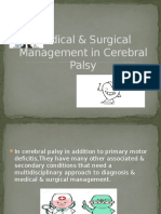 Medical & Surgical Management in Cerebral Palsy
