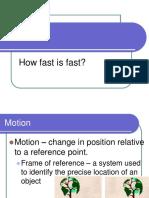 6.1 Speed Velocity