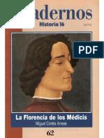 Cuadernos Historia 16, Nº 062 - La Florencia de Los Médicis
