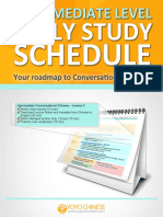 Intermediate Study Schedule