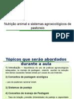 Nutrição e Sistemas Agroecológicos de Pastoreio