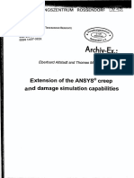Extension of the ANSYS Creep and Damage - User Programming