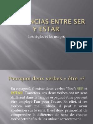 Diferencias Entre Ser Y Estar Langue Espagnole Langues