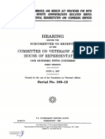 HOUSE HEARING, 105TH CONGRESS - GOVERNMENT PERFORMANCE AND RESULTS ACT STRATEGIES FOR BOTH THE VETERANS BENEFITS ADMINISTRATION'S EDUCATION SERVICE AND THE VOCATION AL REHABILITATION AND COUNSELING SERVICES