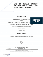 HOUSE HEARING, 104TH CONGRESS - ISSUES RELATED TO MEDICARE PAYMENT POLICIES FOR HOME HEALTH AGENCY AND SKILLED NURSING FACILITY SERVICES