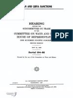 HOUSE HEARING, 104TH CONGRESS - IRAN AND LIBYA SANCTIONS
