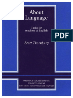 About Language - Tasks for Teachers Scott Thornbury