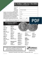 LC 154 Eisenhower Dollar Checklist