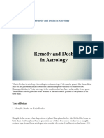 Remedy and Dosha in Astrology