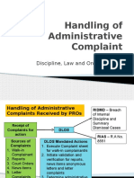 PROs Handling of Administrative Complaint