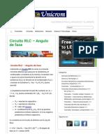 Circuito RLC - Angulo de fase - Electrónica Unicrom.pdf