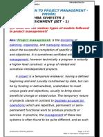3. Introduction to Project Mamagement PM0001 Sem-3