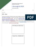 Learn Korean Through K-POP_ BTS - Run