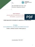 Proiect Managementul Afacerilor Internationale