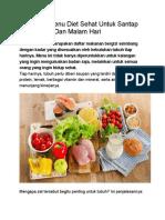 Contekan Menu Diet Sehat Untuk Santap Pagi