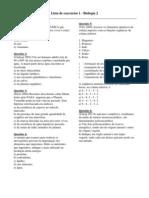 Biologia - Pré-Vestibular Vetor - Bio2 Exercícios 01