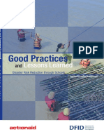 Disaster Risk Reduction - Good Practices and Lessons Learned