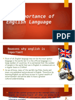 The Importance of English Language
