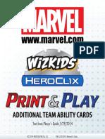 Marvel Additional Team Abilities