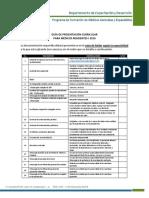 Guia Presentacion Curricular Convocatoria2016