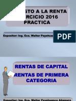 Renta Persona Natural Práctica 2016 Walter Payehuanca Añamuro