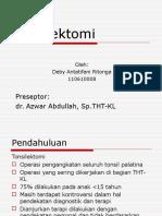 Referat Tonsilektomi