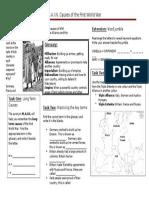 MAIN Causes WWI Worksheet