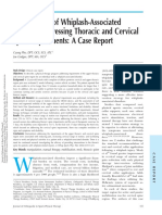 Management of Whiplash-Associated Disorder Addressing Thoracic and Cervical Spine Impairments