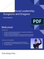 unconventional leadership- dungeons and dragons - sli
