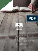 Dez Aspectos Sobre a Interpretação Da Bíblia