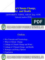 Climate Change Water Health Linkage