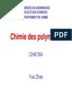 Chimie Des Polymères