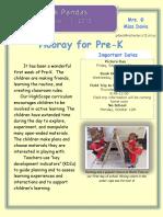 week1 parent newsletter