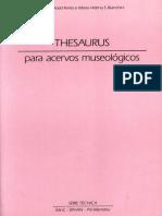 THESAURUS Para Acervos Museologico - Serie Tecnica - Vol.1