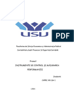proiect instrumente de control si masurare a performantei