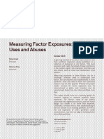 Measuring Factor Exposures Uses and Abuses