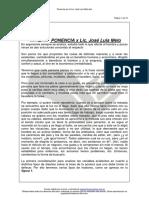 Ponencia Por El Lic. Jose Luis Melo