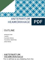 Antepartum heamorrhage