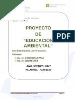 Proyecto de Educacion Ambiental Fca 2017